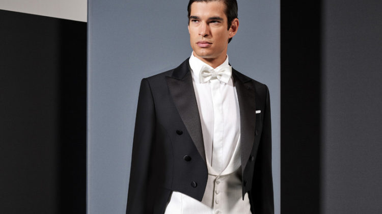 The tailcoat for the groom, a classic of elegance