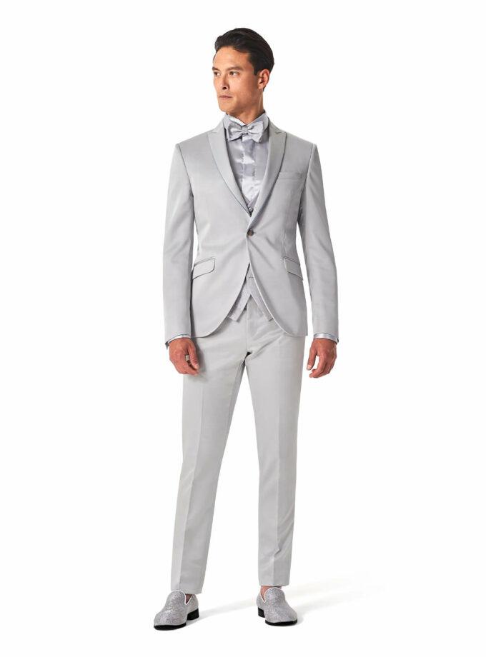 abito beach wedding grigio perla cerimonia