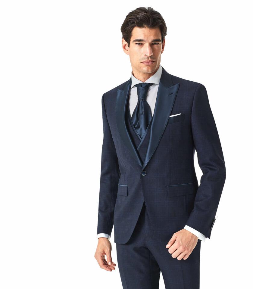 abito blu elegante cerimonia uomo andrea versali
