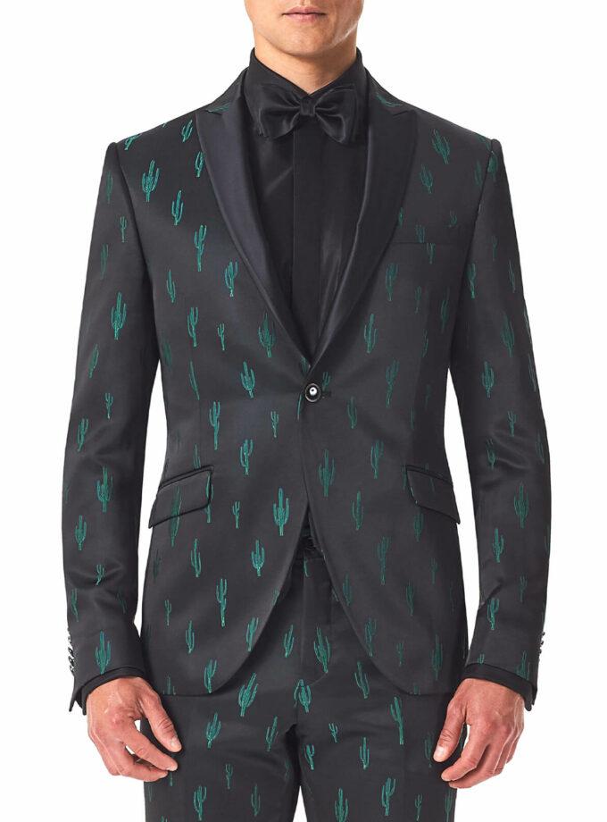 giacca uomo con fantasia uomo con cactus cerimonia uomo Andrea Versali