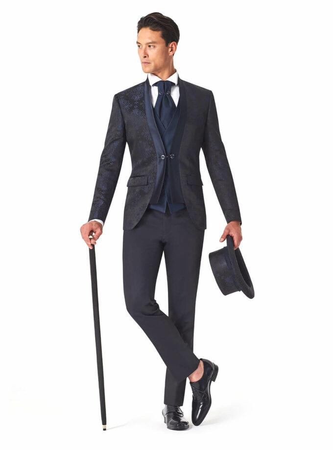 abito elegante uomo cerimonia con gilet doppio petto 2022