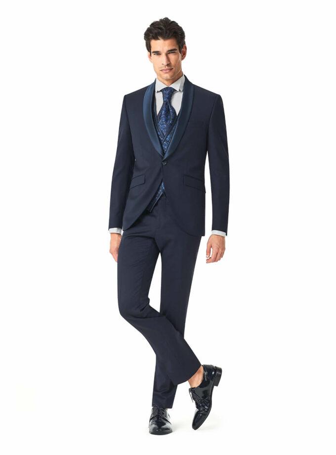 abito uomo blu cerimonia 2022