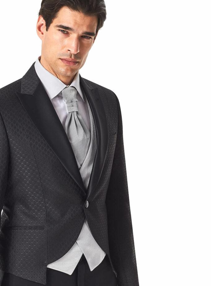 abito uomo corto rever a lancia raso sposo 2022 con gilet grigio