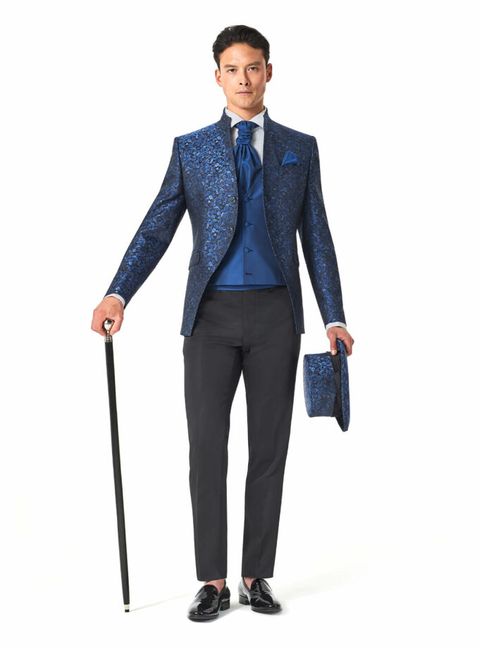 abito uomo cerimonia 2022 versali con cilindro e bastone