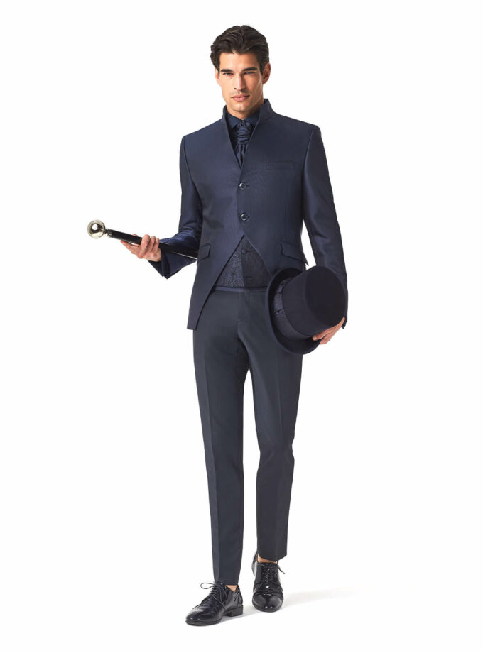 abito blu cerimonia Andrea Versali 2022