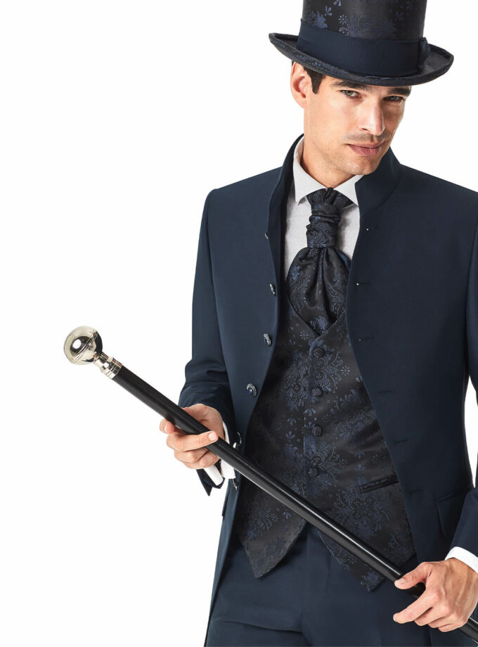 abito uomo lungo gilet bastone cilindro fantasia cerimonia
