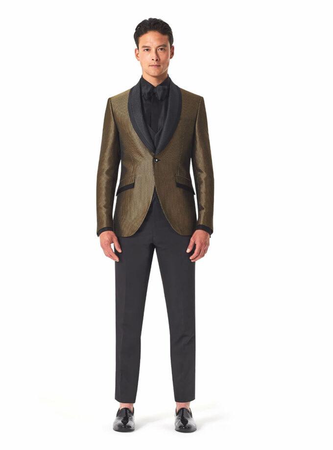 abito oro uomo cerimonia