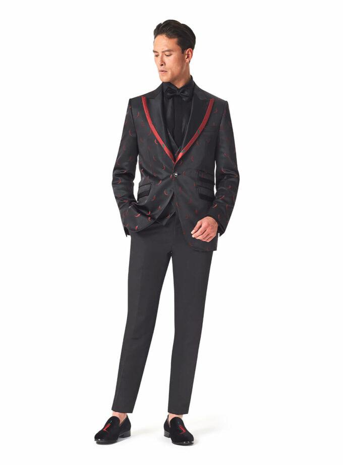 abito cerimonia uomo con ricamo peperoncino