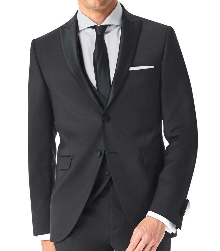 abito nero doppio bottone cerimonia uomo