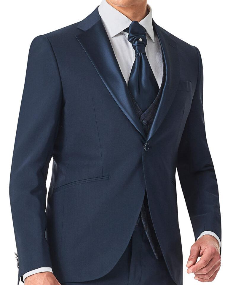 giacca uomo tinta unita con cravattone cerimonia