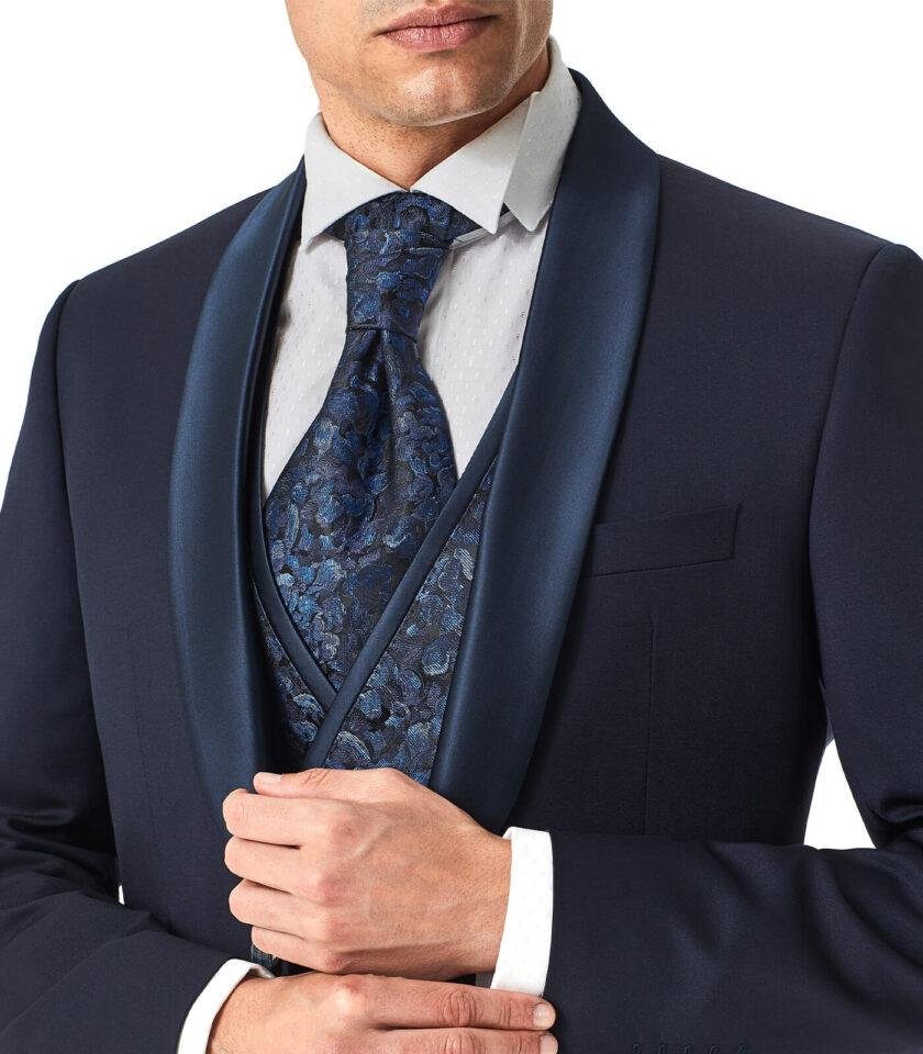 giacca uomo andrea versali cerimonia con gilet doppio petto