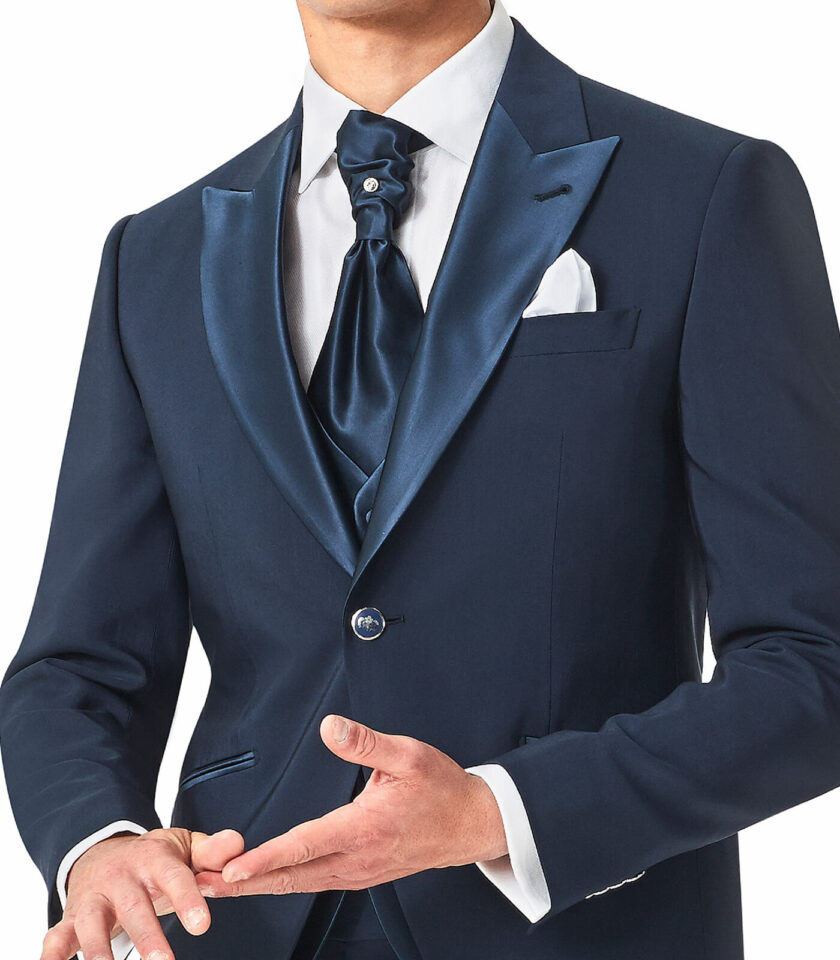 giacca uomo con rever a lancia blu sposo versali 2022