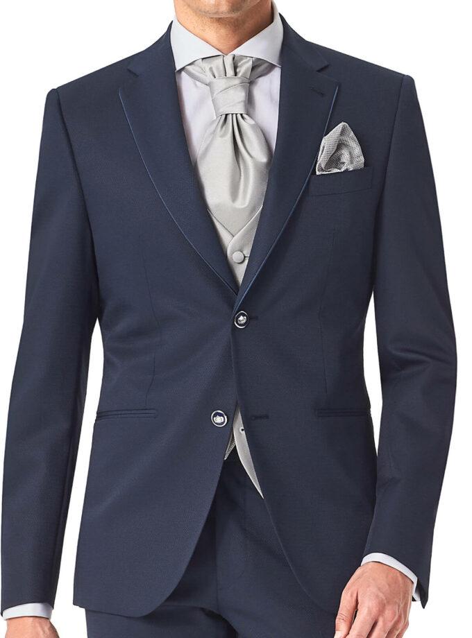 giacca uomo con rever e profili in contrasto doppio bottone