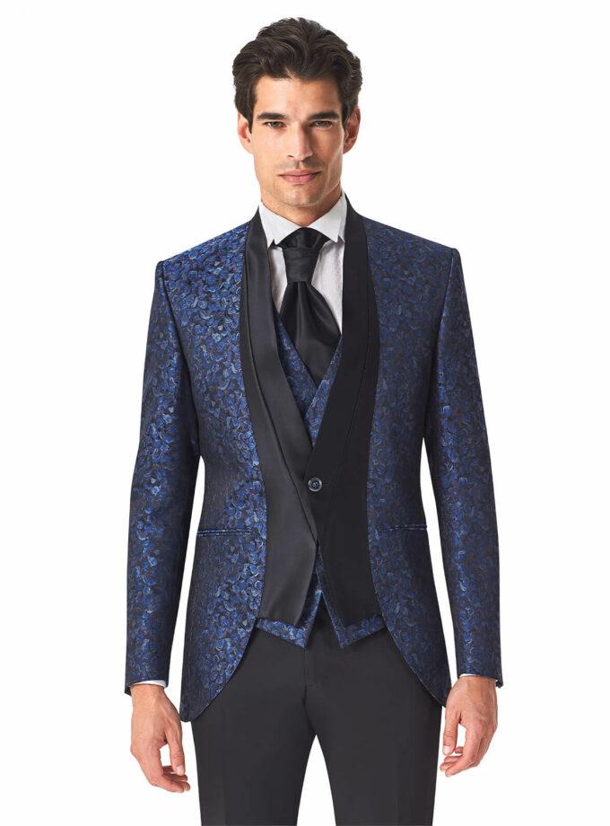 abito blu fantasia cerimonia uomo