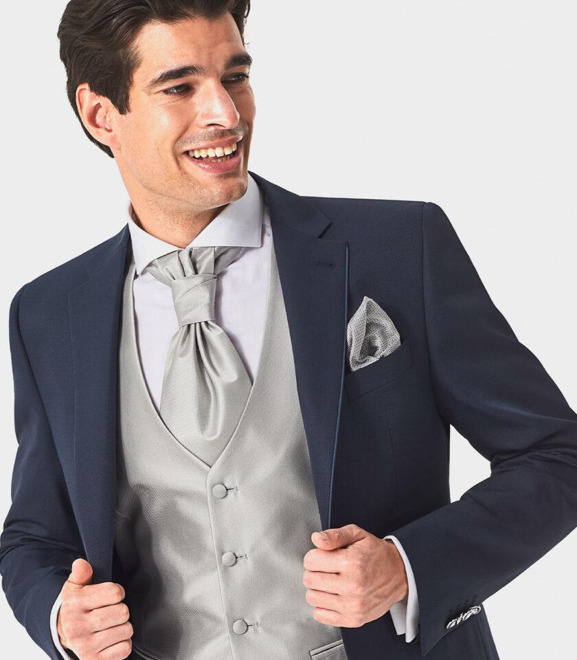 giacca uomo con gilet perla cerimonia sposo 2022