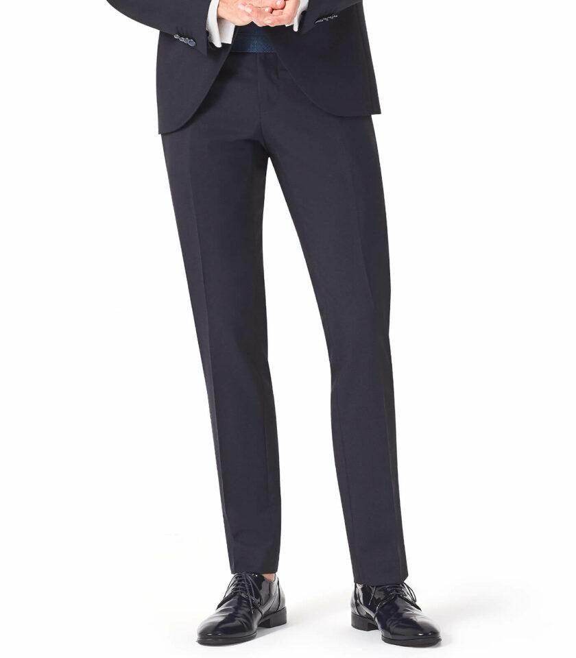 pantalone blu con fascia cerimonia uomo
