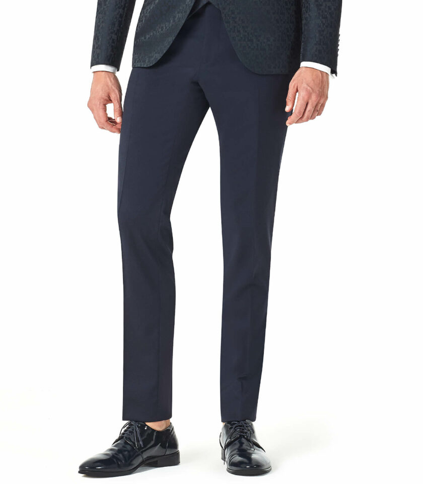 pantalone blu uomo elegante sposo