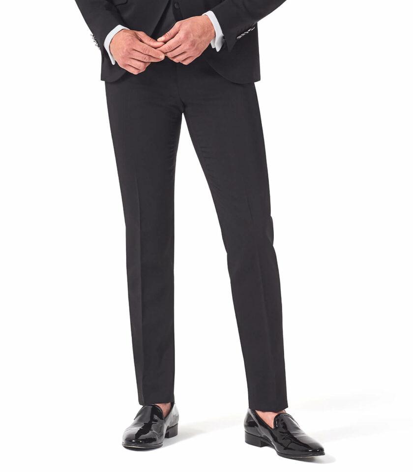 pantalone nero uomo elegante cerimonia sposo versali
