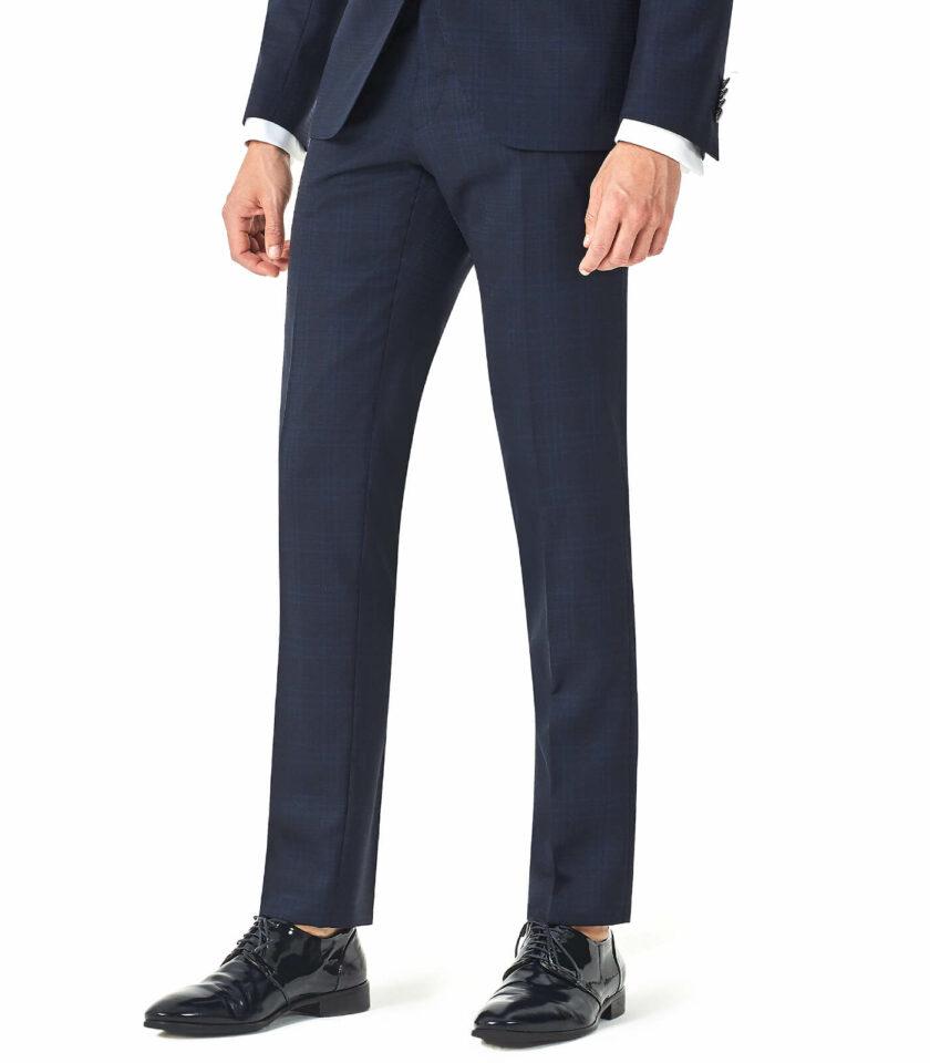 pantalone principe di galles blu cerimonia