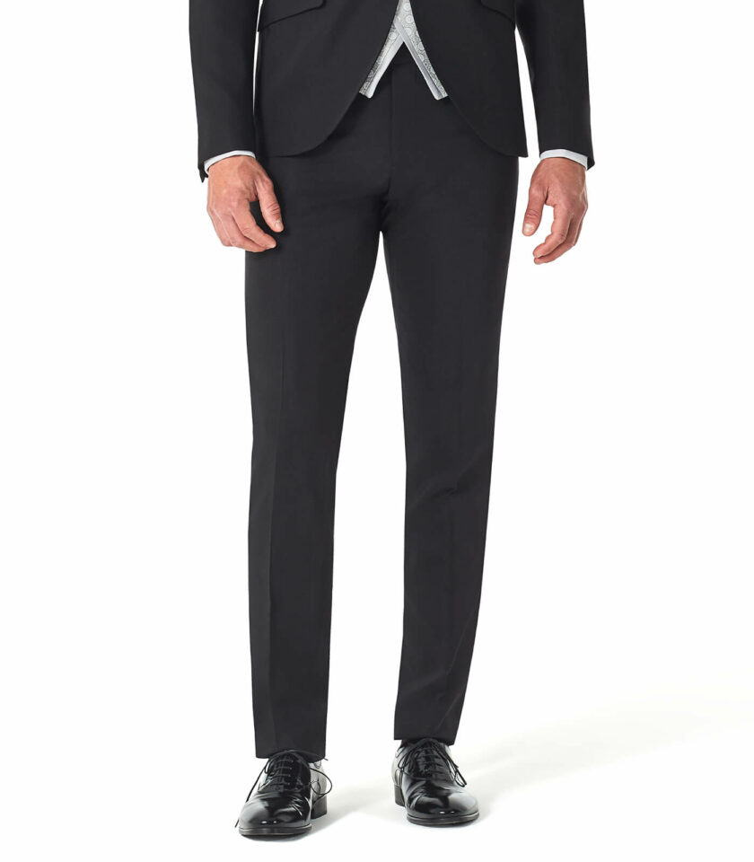 pantalone uomo nero elegante
