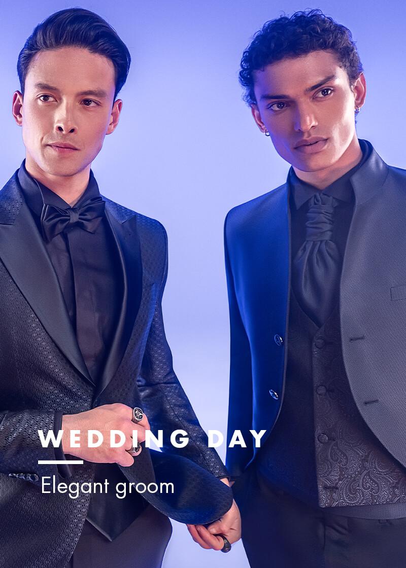 elegant groom versali - wedding day